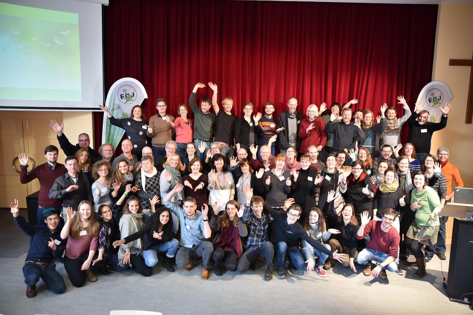 Teilnehmer*innen der Jahrestagung der FÖJ-Träger 2018